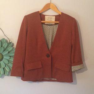 Anthropologie Cartonnier Rust colores blazer